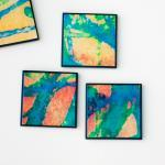 Coasters Colorful Abstract ..