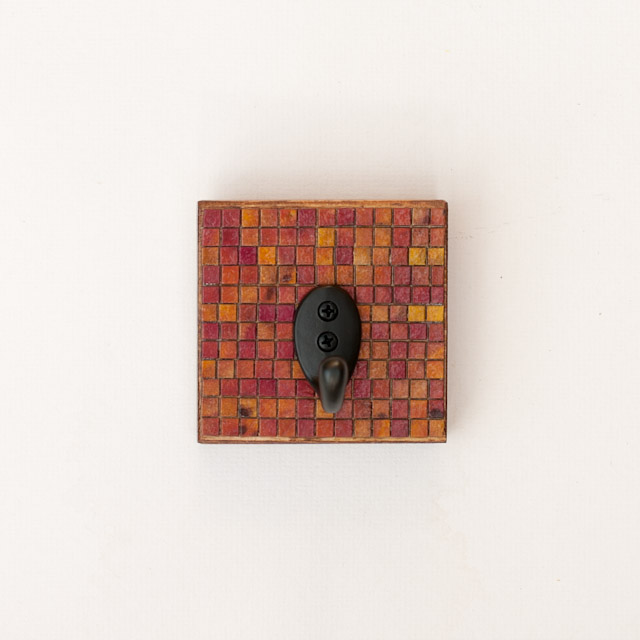 Wall Hook Handmade Paper Checkered Board Pattern
